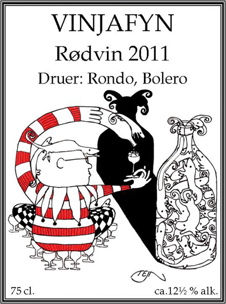 Tejn: Wine label.